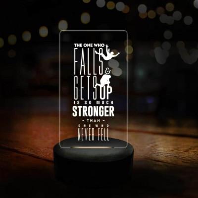 3D LED One Who Falls Motivational Lamp