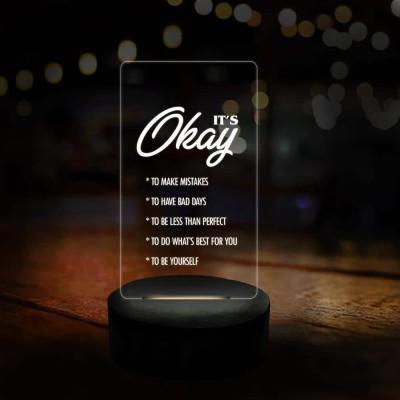 3D LED Its Okay Motivational Lamp