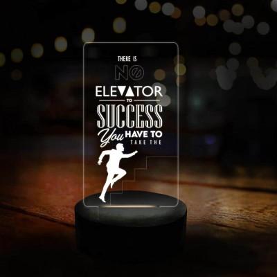 3D LED No Elevator Motivational Lamp